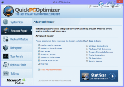 QuickPCOptimizer Screenshot2