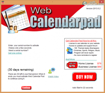Web Calendar Pad Screenshot3