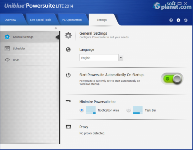 Uniblue PowerSuite Lite 2014 Screenshot4