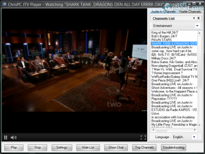 ChrisPC JTV Player Screenshot2