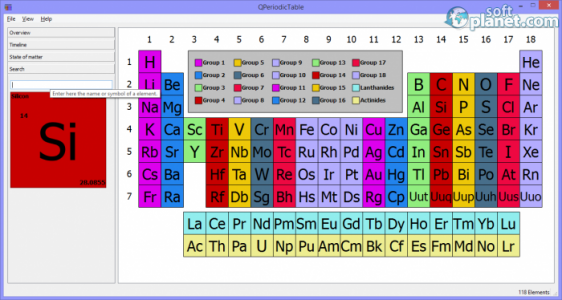 QPeriodicTable Screenshot3