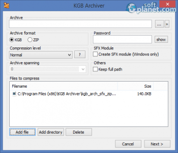 KGB Archiver Screenshot2