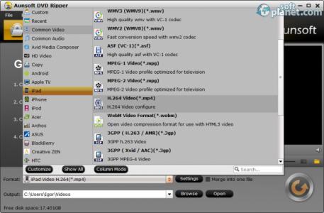 Aunsoft DVD Ripper Screenshot2