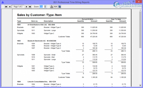BS1 Professional Time Billing Screenshot3