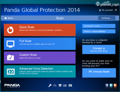 Panda Global Protection Screenshot2