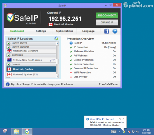SafeIP Screenshot4