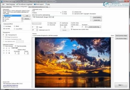 TSR Watermark Image Software Screenshot3