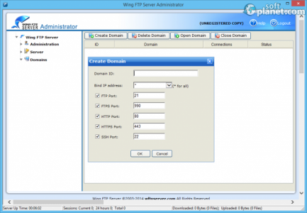 Wing FTP Server Screenshot3