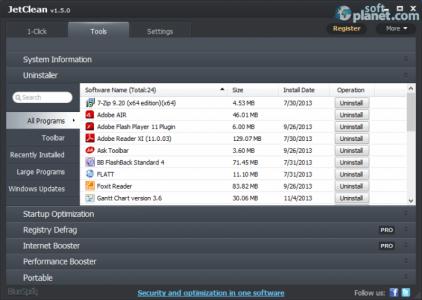JetClean Screenshot2