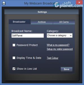 My Webcam Broadcaster Screenshot2