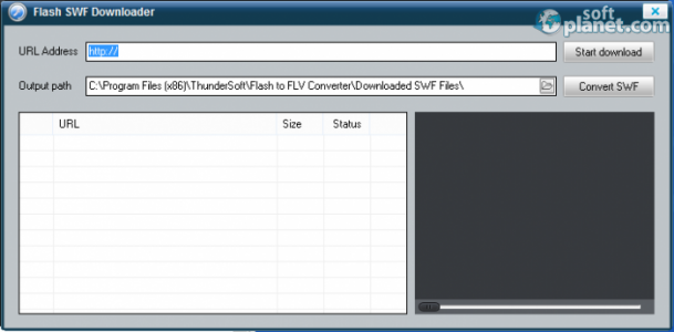 ThunderSoft Flash to FLV Converter Screenshot5
