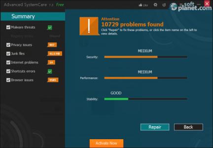 Advanced SystemCare Screenshot2