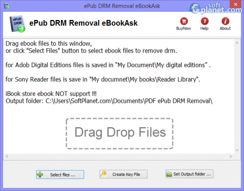 ePub DRM Removal eBookAsk 5.3.1027.192
