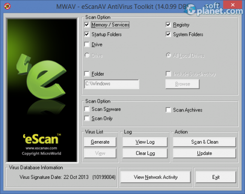 eScanAV AntiVirus Toolkit 14.0.99