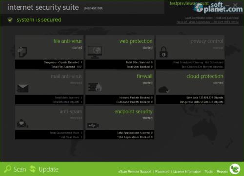eScan Internet Security Suite 14.0.1400.1632