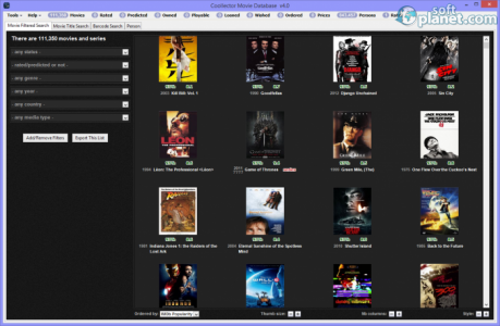 Coollector Movie Database Screenshot2