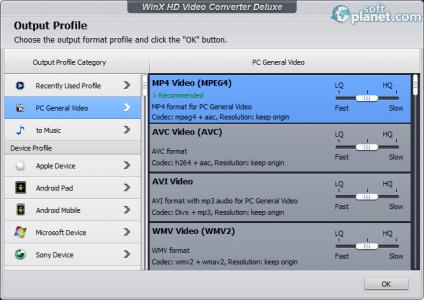 WinX HD Video Converter Deluxe Screenshot2