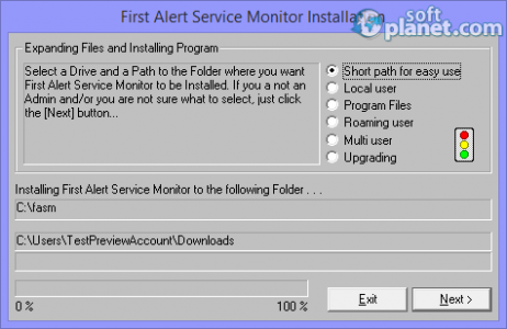 First Alert Service Monitor Screenshot4