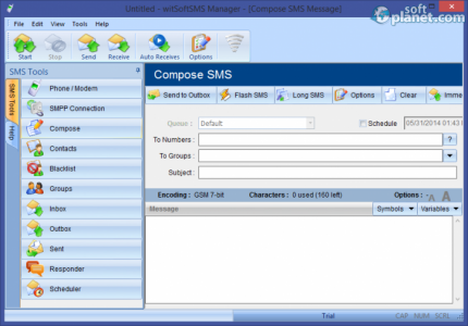 witSoft SMS Manager Screenshot3