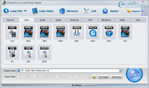 WonderFox DVD to Cell Phone Ripper Screenshot3