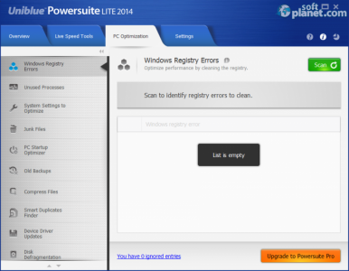Uniblue PowerSuite Lite 2014 Screenshot3