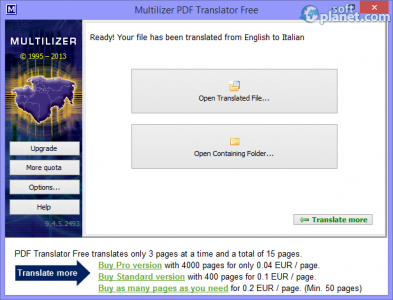 Multilizer PDF Translator Screenshot2