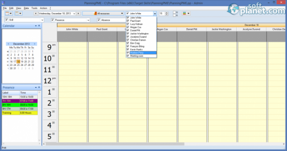 PlanningPME Screenshot3