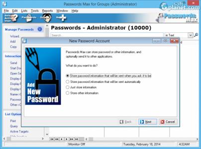 Passwords Max for Groups Screenshot2