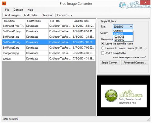 Free Image Converter Screenshot2