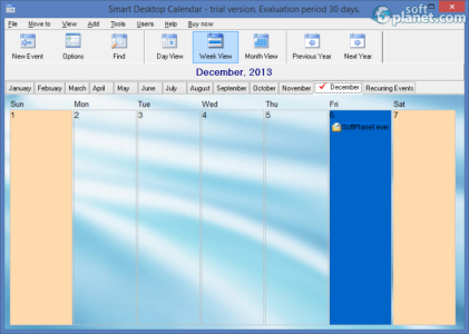 Smart Desktop Calendar Screenshot5