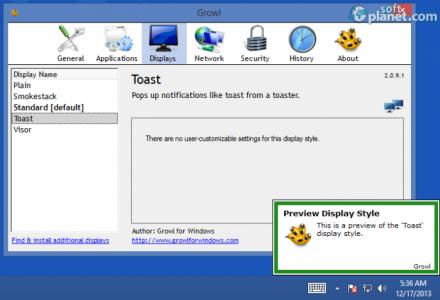 Growl for Windows Screenshot3
