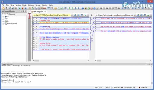 UltraCompare Professional Screenshot4