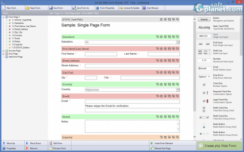 Arclab Web Form Builder Screenshot3